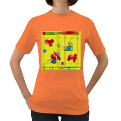Playful day - yellow  Women s Dark T-Shirt