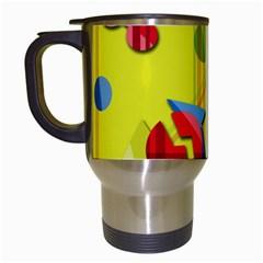 Playful day - yellow  Travel Mugs (White)