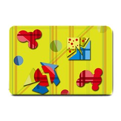 Playful day - yellow  Small Doormat