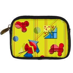 Playful day - yellow  Digital Camera Cases
