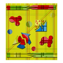 Playful day - yellow  Shower Curtain 66  x 72  (Large)