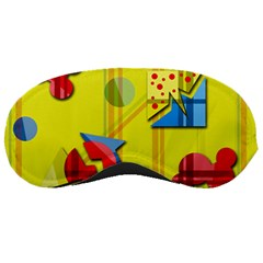 Playful day - yellow  Sleeping Masks