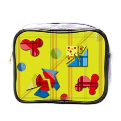 Playful day - yellow  Mini Toiletries Bags