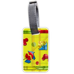 Playful day - yellow  Luggage Tags (One Side)