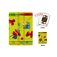 Playful day - yellow  Playing Cards (Mini)
