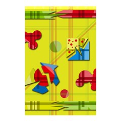 Playful day - yellow  Shower Curtain 48  x 72  (Small)