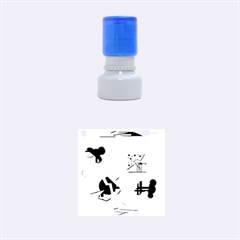 Playful day - yellow  Rubber Round Stamps (Small)