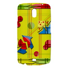 Playful day - yellow  Samsung Galaxy Nexus i9250 Hardshell Case
