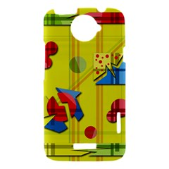 Playful day - yellow  HTC One X Hardshell Case