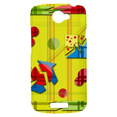 Playful day - yellow  HTC One S Hardshell Case