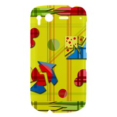 Playful day - yellow  HTC Desire S Hardshell Case