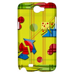 Playful day - yellow  Samsung Galaxy Note 2 Hardshell Case