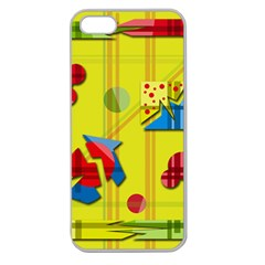 Playful day - yellow  Apple Seamless iPhone 5 Case (Clear)