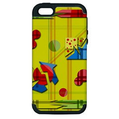 Playful day - yellow  Apple iPhone 5 Hardshell Case (PC+Silicone)