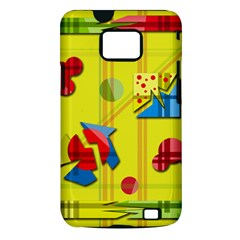 Playful day - yellow  Samsung Galaxy S II i9100 Hardshell Case (PC+Silicone)