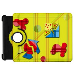 Playful day - yellow  Kindle Fire HD Flip 360 Case