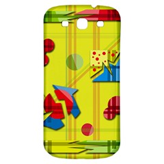 Playful day - yellow  Samsung Galaxy S3 S III Classic Hardshell Back Case