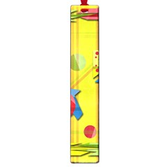 Playful Day   Yellow  Large Book Marks