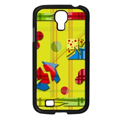 Playful day - yellow  Samsung Galaxy S4 I9500/ I9505 Case (Black)