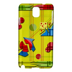 Playful day - yellow  Samsung Galaxy Note 3 N9005 Hardshell Case