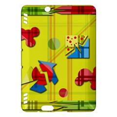 Playful day - yellow  Kindle Fire HDX Hardshell Case