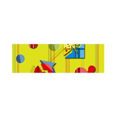 Playful day - yellow  Satin Scarf (Oblong)