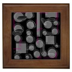 Come down - magenta Framed Tiles