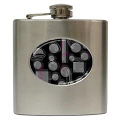 Come down - magenta Hip Flask (6 oz)