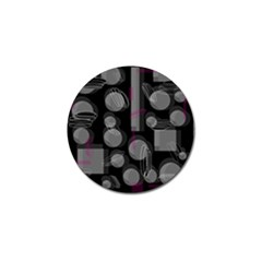 Come down - magenta Golf Ball Marker (4 pack)