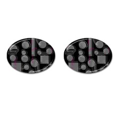 Come down - magenta Cufflinks (Oval)