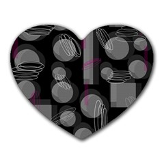 Come down - magenta Heart Mousepads