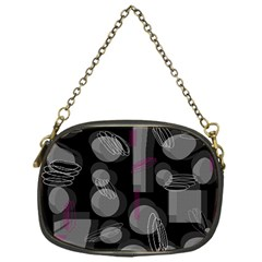 Come down - magenta Chain Purses (One Side)