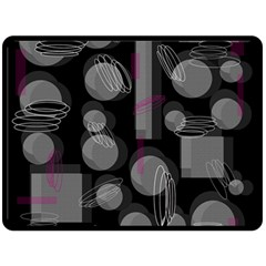 Come down - magenta Fleece Blanket (Large)