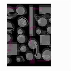 Come down - magenta Large Garden Flag (Two Sides)