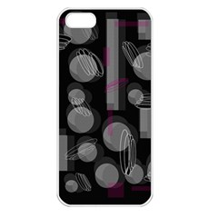 Come down - magenta Apple iPhone 5 Seamless Case (White)