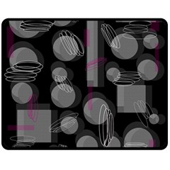 Come down - magenta Double Sided Fleece Blanket (Medium)