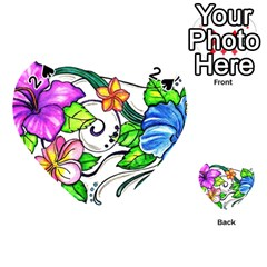 Tropical Hibiscus Flowers Playing Cards 54 (heart)