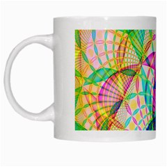 Design Background Concept Fractal White Mugs