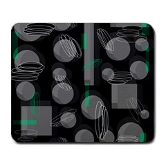 Come down - green Large Mousepads