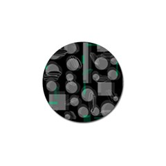 Come down - green Golf Ball Marker (4 pack)
