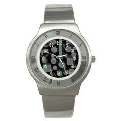 Come down - green Stainless Steel Watch