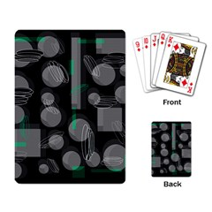 Come down - green Playing Card