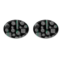 Come down - green Cufflinks (Oval)