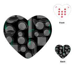Come down - green Playing Cards (Heart)