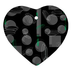 Come down - green Heart Ornament (2 Sides)