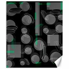 Come down - green Canvas 20  x 24