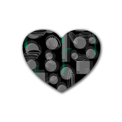 Come down - green Heart Coaster (4 pack)