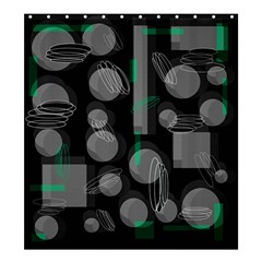 Come down - green Shower Curtain 66  x 72  (Large)