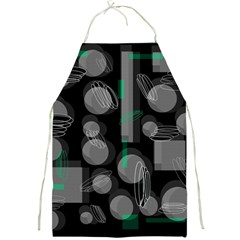 Come down - green Full Print Aprons