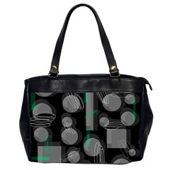 Come down - green Office Handbags (2 Sides)